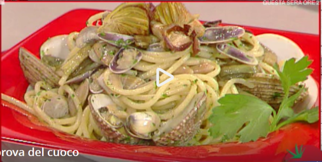 spaghetti ai carciofi con frutti di mare